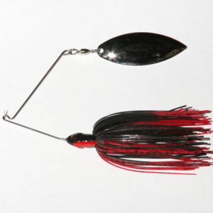3/8 oz, Black/Red, Single, R wire, Willow, Nickel