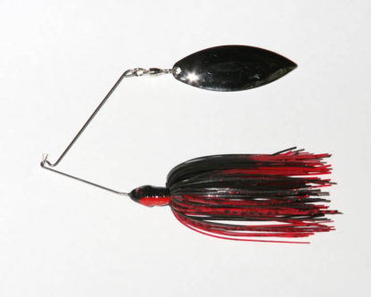 3/8 oz, Black/Red, R wire, Single, Willow, Nickel