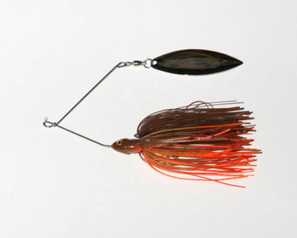 3/8 oz, Brown/Orange, Twist wire, Single, Willow, Nickel