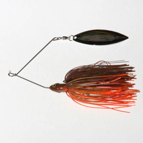 3/8 oz, Brown/Orange, Single, Twist wire, Willow, Nickel