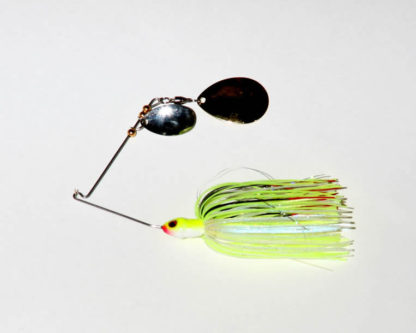 3/8 oz. - Chartreuse/White, R wire, Tandem, Colorado, GOLD/nickel