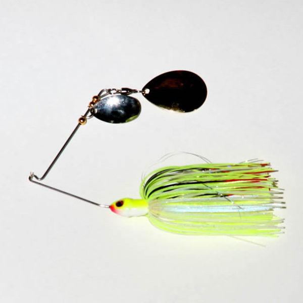 3/8 oz. - Chartreuse/White - Tandem - R wire - Colorado - Gold/Nickel