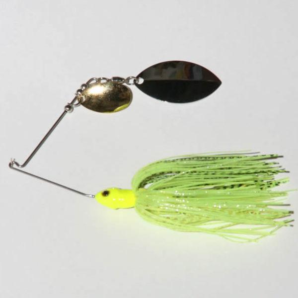 Chartreuse, Tandem, R wire, Turtleback, Nickel/Gold