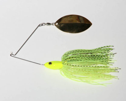 3/4 oz, Chartreuse, R wire, Single, Turtleback, Gold