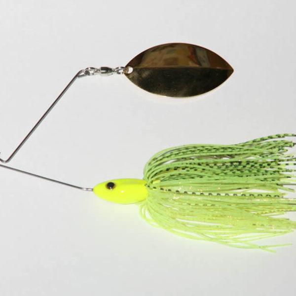 3/4 oz, Chartreuse, Single, R wire, Turtleback, Gold