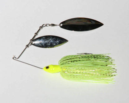 1/2 oz., Chartreuse, R wire, Tandem, Willow/Willow, NICKEL/nickel