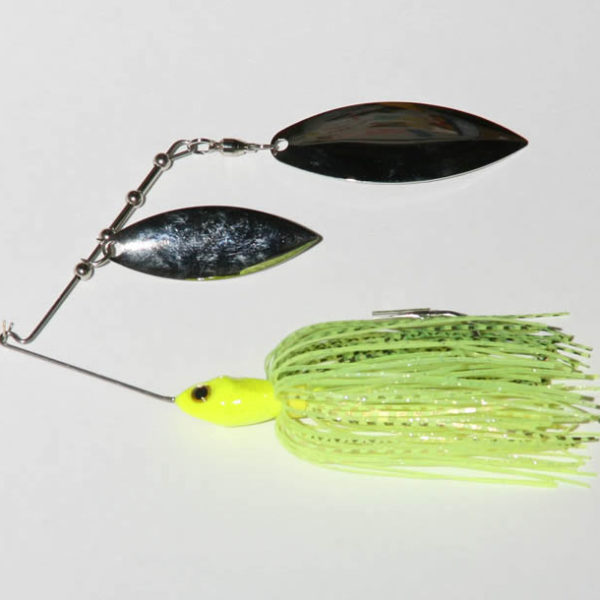 1/2 oz., Chartreuse, Tandem, R wire, Willow/Willow, Nickel/Nickel