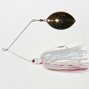 3/8 oz, White/Red, Single, Twist wire, Turtleback, Gold