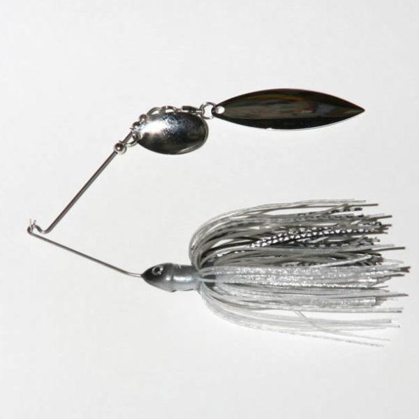 3/8 oz, Silver Shad, Tandem, R wire, Willow, Nickel/Nickel